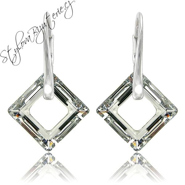 Náušnice s krystaly Swarovski 31058.5 calvsi Stříbrné náušnice s krystaly Swarovski v dárkové krabičce 647