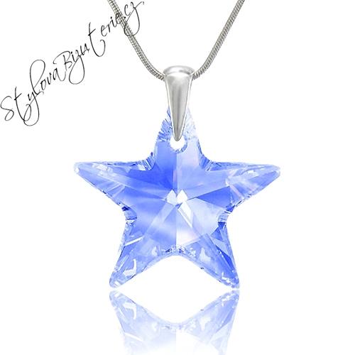 Swarovski Náhrdelník hvězda L.Sapphire AB Stříbrný náhrdelník s krystalem Swarovski v dárkové krabičce 657